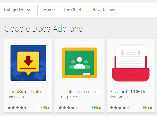 Google Docs and Sheets apps of Android got new add-ons