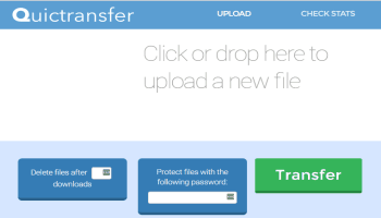 Quictransfer- send large files without limit