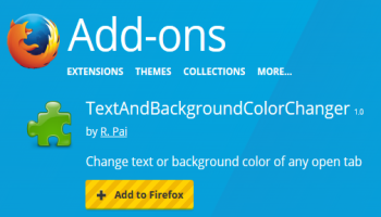 change text and background color of a webpage