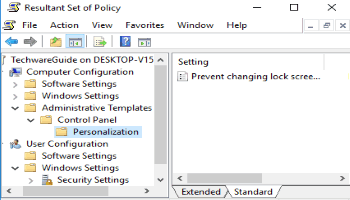 see applied group policies in windows 10