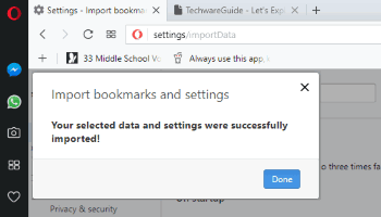 import bookmarks from microsoft edge to opera