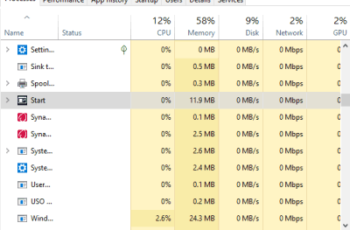 windows 10 task manager visible