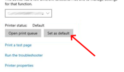 set default printer windows 10